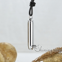 bullet genuine leather metal stainless steel necklaces with pendants