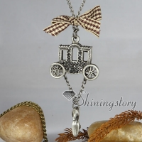 carriage high heel antique long chain pendants necklaces