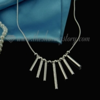 chandelier 925 sterling silver plated necklaces jewelry