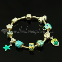 charms bracelets with european enamel beads
