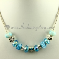 charms necklaces with european crystal large hole beads