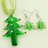 christmas tree venetian murano glass pendants and earrings jewelry