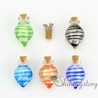 cone foil murano glass handmade murano glassminiature perfume bottlespet memorial jewelryashes pendant