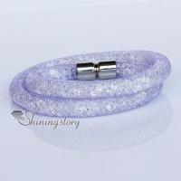 crystal stardust bracelets star dust bracelets rhinestone wrap bracelet double layer bracelet snap bracelets magnetic buckle