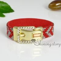 crystal cuff bracelets rhinestone shinning bracelets for women slake wrap bracelets
