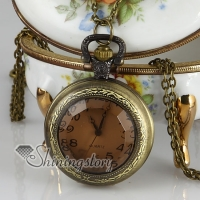crystal long chain pocket watch pendants necklaces