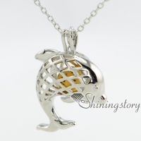 dolphin oil diffuser necklace silver locket gold lockets for sale ladies silver lockets