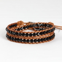 double cotton cord crystal beaded bracelets jewellery