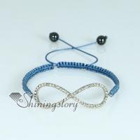 drawstring macrame bracelet woven bracelet shamballa shambala glitter ball drawstring bracelets crystal rhinestone