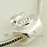 duck silver plated european big hole charms fit for bracelets