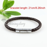 elegant genuine leather bracelets jewelry