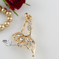 elegant mermaid rhinestone scarf brooch pin jewelry