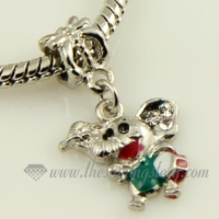 elephant dangle european big hole charms fit for bracelets