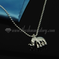 elephant pendant 925 sterling silver plated necklaces jewelry