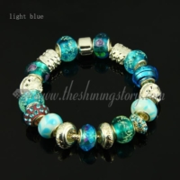 european charms bracelets with crystal murano glass beads