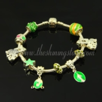 european charms bracelets with enamel big hole beads