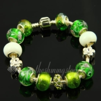 european charms bracelets with murano glass big hole beads