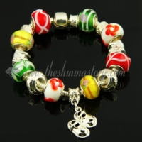 european charms bracelets with murano glass large hole beads