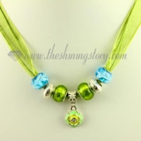european charms necklaces with lampwork glass beads