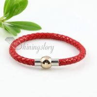 fashion magnetic buckle genuine leather bracelets