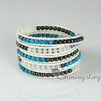 five layer beaded wrap bracelets semi precious stone jade agate turquoise rose quartz natural stone jewelry