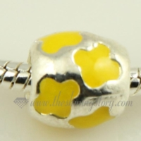 flower enamel european big hole charms fit for bracelets