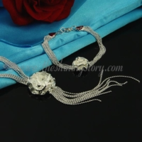 flower rose tassel necklaces and bracelets jewelry sets
