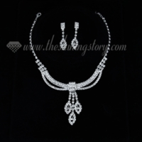 formal wedding bridal prom rhinestone chandelier jewelry sets
