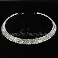 formal wedding bridal prom rhinestone choker necklaces