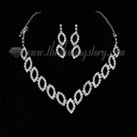 formal wedding bridal prom rhinestone necklaces and earrings