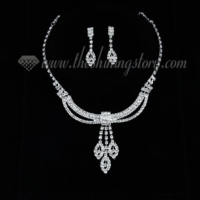 formal wedding bridal rhinestone chandelier jewelry sets