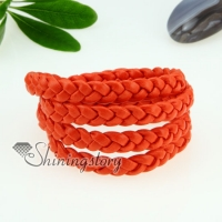 four layer woven leather wrap bracelets unisex