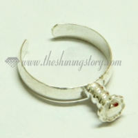 free size finger rings for large hole charms beads