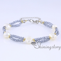 freshwater pearl bracelet baroque pearl bracelet with crystal beads real pearls jewellery bridal jewellery collection