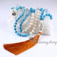 freshwater pearl necklace mala bead necklace 108 mala bracelet indian prayer beads meditation beads pearl jewelry online