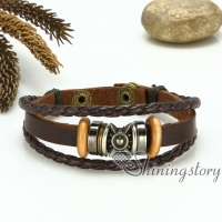 genuine leather bracelets with charms charm bracelet handmade macrame bracelet