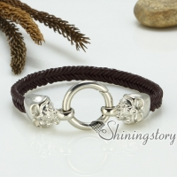 genuine leather bracelets woven bracelet skull bracelet macrame bracelet
