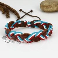 genuine leather drawstring wrap bracelets