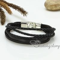 genuine leather woven bracelets handmade mesh bracelets macrame bracelet