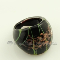 glitter lampwork murano glass finger rings jewelry