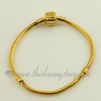 gold plated european bracelets fit for large hole charms beads
