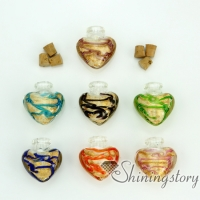 hand craft lampwork glassglass vial for necklacekeepsake jewelryurns jewelry