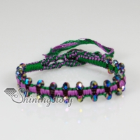 handmade friendship beaded wrap bracelets cotton cord adjustable