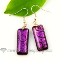 handmade murano dichroic glass earrings jewelry