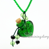 heart lampwork glass essential oil diffuser necklace diffuser bracelet necklace diffuser pendant glass bottle pendant perfume bottle