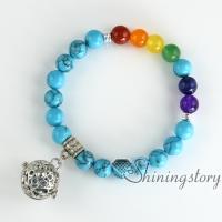 chakra bracelet seven chakra balancing jewelry essential oil bracelet aromatherapy jewelry meditation jewelry birthstone bracelets