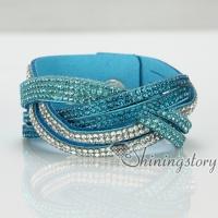 high quality slake bracelets rhinestone crystal bracelets blingbling multi layer wrap bracelets
