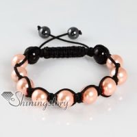 imitated pearls macrame armband bracelets jewelry