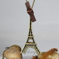 la tour eiffel antique long chain pendants necklaces