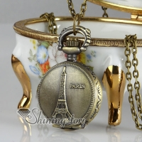 la tour eiffel long chain pocket watch pendants necklaces